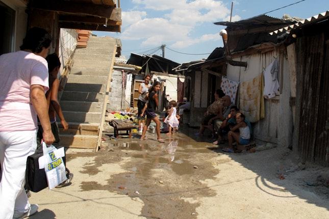 A Roma settlement