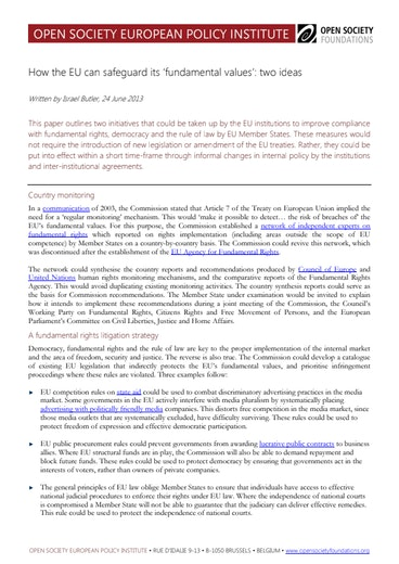 First page of PDF with filename: How-EU-Can-Safeguard-Fundamental-Values-20130624.pdf