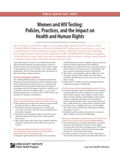First page of PDF with filename: womenhiv_20080730.pdf
