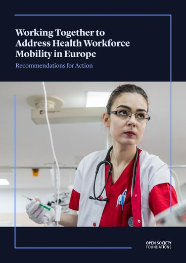 First page of PDF with filename: working-together-to-address-health-workforce-mobility-in-europe-20201027.pdf