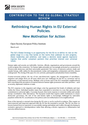 First page of PDF with filename: rethinking-human-rights-eu-external-policies-20160315.pdf