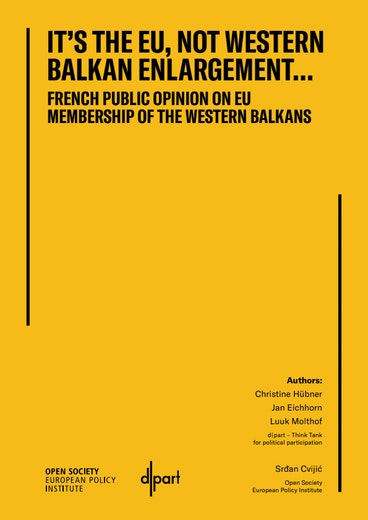 First page of PDF with filename: it's-the-eu-not-western-balkan-enlargement-20210201.pdf