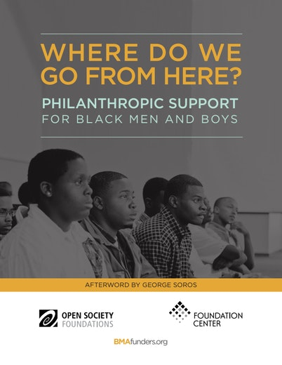 First page of PDF with filename: philanthropic-support-black-men-and-boys-20140721.pdf