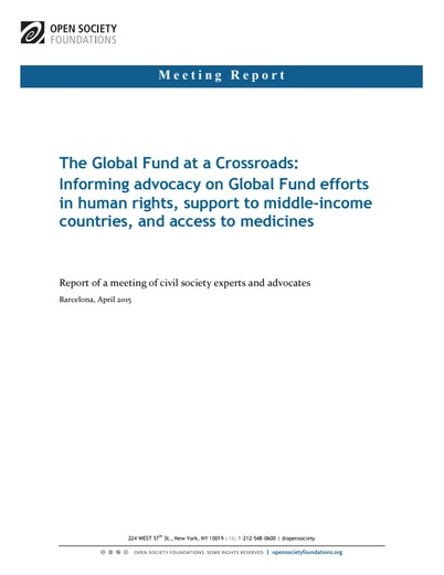 First page of PDF with filename: global-fund-crossroads-20150611.pdf