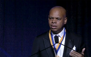 "Still image from ""Patrick Gaspard Honored with the NAACP's Spingarn Medal"""