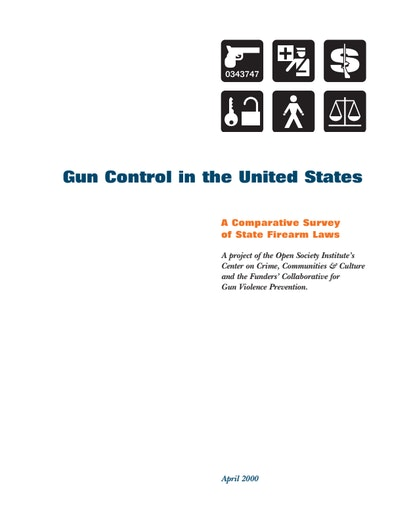 First page of PDF with filename: GunReport.pdf