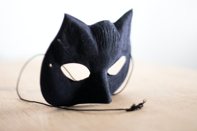 A cat mask on a table