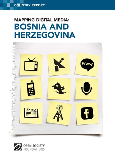 First page of PDF with filename: mapping-digital-media-bosnia-20120706.pdf