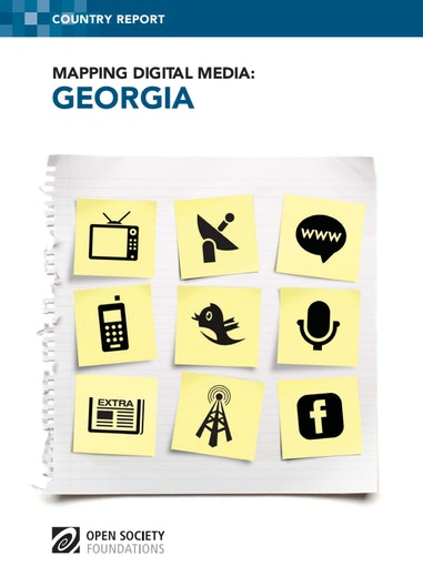First page of PDF with filename: mapping-digital-media-georgia-20121023.pdf