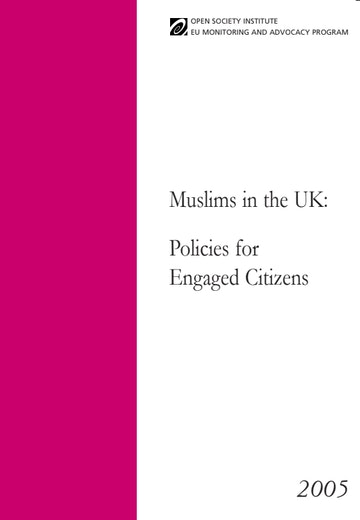 First page of PDF with filename: muslims-uk-policies-2005-20120119.pdf