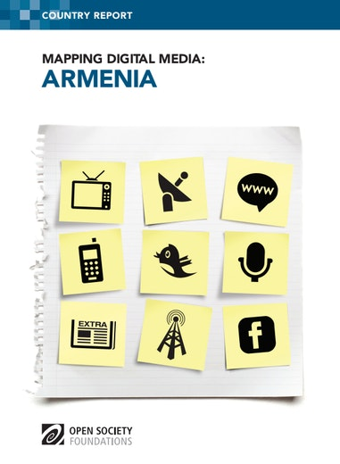 First page of PDF with filename: mapping-digital-media-armenia-20140324.pdf