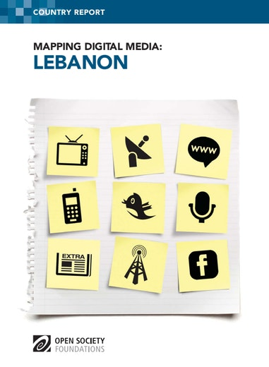 First page of PDF with filename: mapping-digital-media-lebanon-20120506.pdf