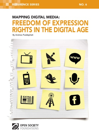 First page of PDF with filename: mapping-digital-media-freedom-expression-rights-20110728.pdf