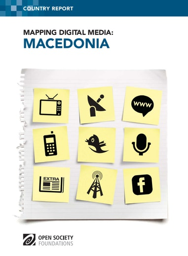 First page of PDF with filename: mapping-digital-media-macedonia-20120625.pdf