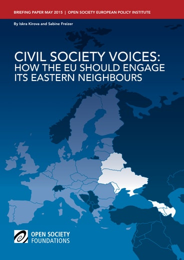 First page of PDF with filename: civil-society-voices-eastern-neighbours-20150511.pdf