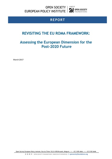 First page of PDF with filename: revisiting-eu-roma-framework-20170607.pdf