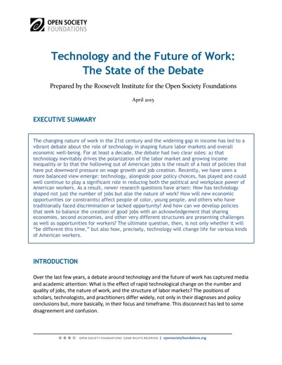 First page of PDF with filename: future-work-lit-review-20150428.pdf