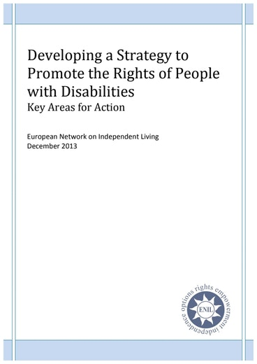 First page of PDF with filename: Developing-Strategy-Promote-Rights-People-Disabilities-20140131.pdf