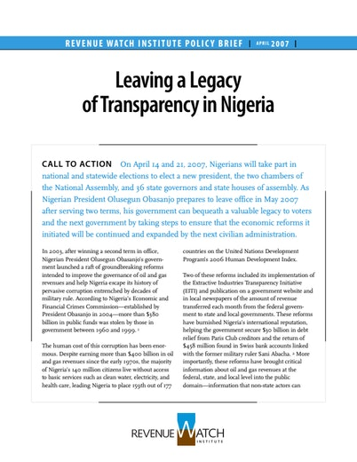 First page of PDF with filename: nigeria_20070410.pdf
