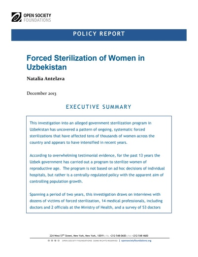First page of PDF with filename: sterilization-uzbek-20131212.pdf