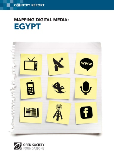 First page of PDF with filename: mapping-digital-media-egypt-20130823.pdf