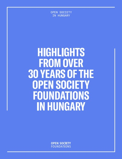 First page of PDF with filename: highlights-over-30-years-of-open-society-in-hungary-20180514.pdf