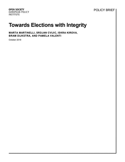 First page of PDF with filename: towards-elections-with-integrity-20181009.pdf