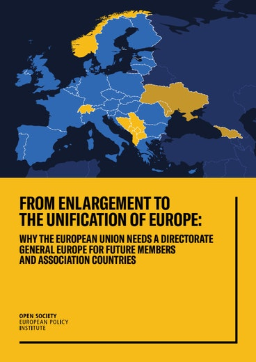 First page of PDF with filename: from-enlargement-to-the-unification-of-europe-20190711.pdf