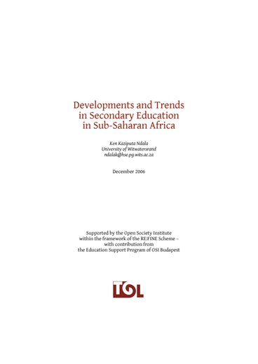 First page of PDF with filename: africareport_20070108.pdf