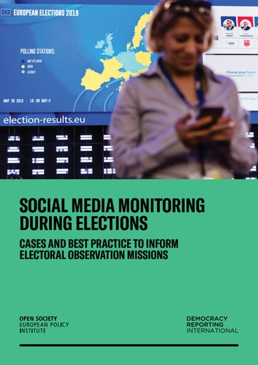 First page of PDF with filename: social-media-monitoring-during-elections-20190614.pdf