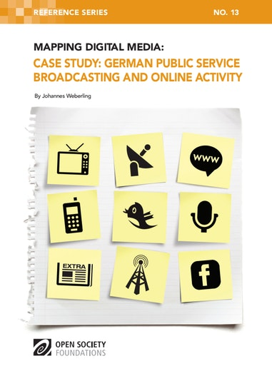 First page of PDF with filename: mapping-digital-media-german-psb-online-activity-20111018.pdf