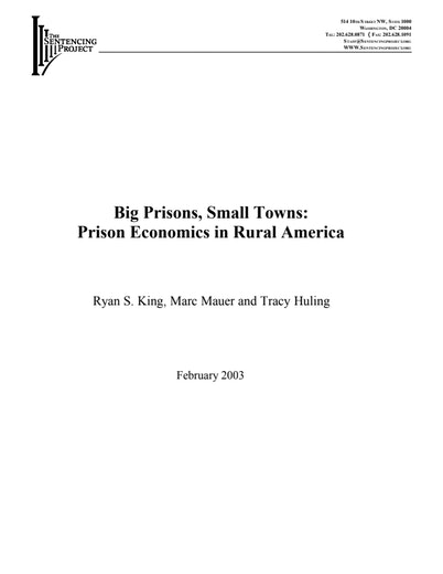First page of PDF with filename: bigprisons.pdf