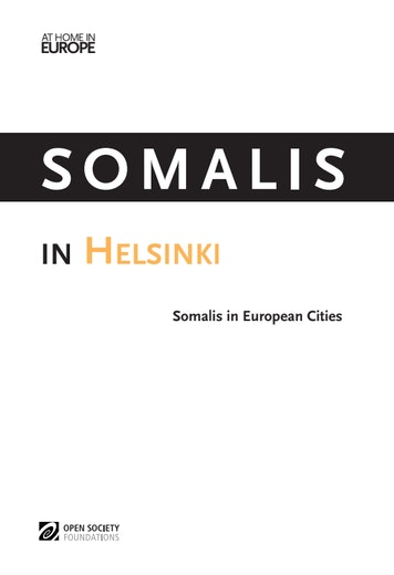 First page of PDF with filename: somalis-helsinki-20131121.pdf