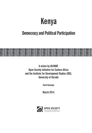 First page of PDF with filename: kenya-democracy-political-participation-20140514.pdf