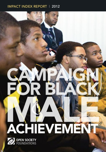 First page of PDF with filename: campaign-for-black-male-achievement-impact-index-20120101.pdf