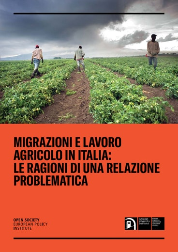 First page of PDF with filename: is-italian-agriculture-a-pull-factor-for-irregular-migration-report-it-20181205.pdf