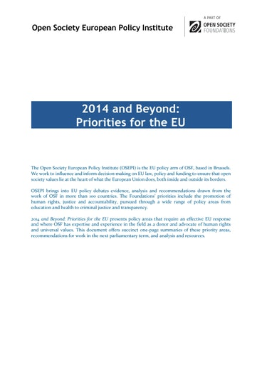First page of PDF with filename: 2014-and-beyond-priorities-european-union-20140909.pdf
