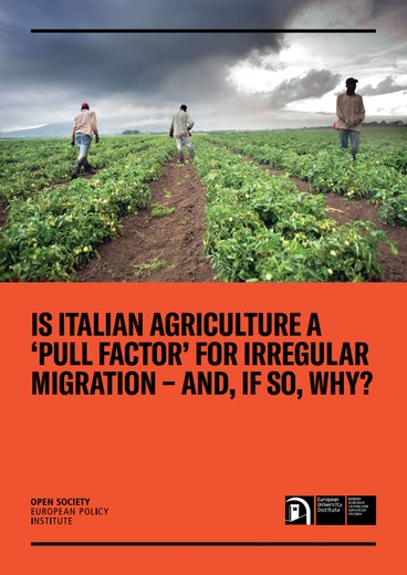 First page of PDF with filename: is-italian-agriculture-a-pull-factor-for-irregular-migration-20181205.pdf