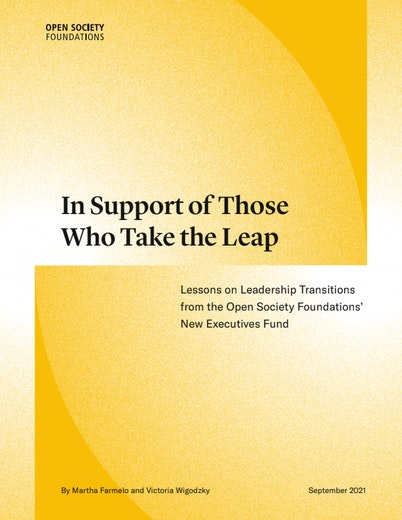First page of PDF with filename: in-support-of-those-who-take-the-leap-20211019.pdf