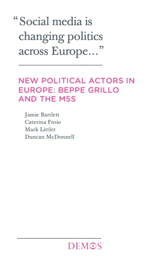 First page of PDF with filename: new-political-actors-europe-20130214.pdf