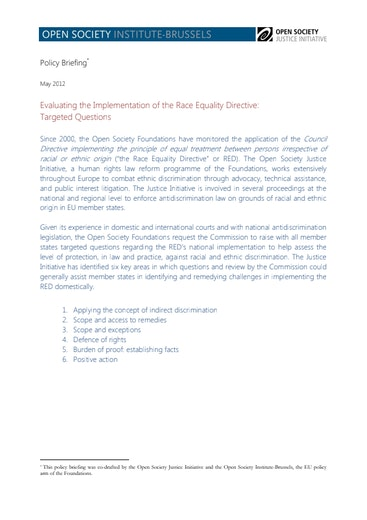 First page of PDF with filename: europe-discrimination-20120501.pdf