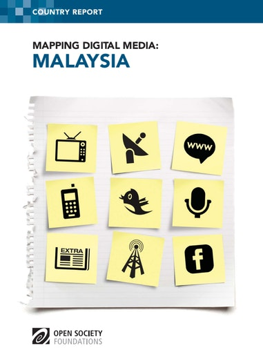First page of PDF with filename: mapping-digital-media-malaysia-20130617.pdf