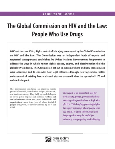 First page of PDF with filename: HIV-and-the-Law-People-Who-Use-Drugs-20130930_0.pdf