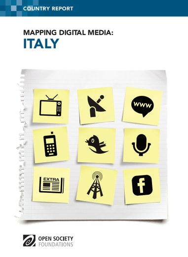 First page of PDF with filename: mapping-digital-media-italy-20130605.pdf