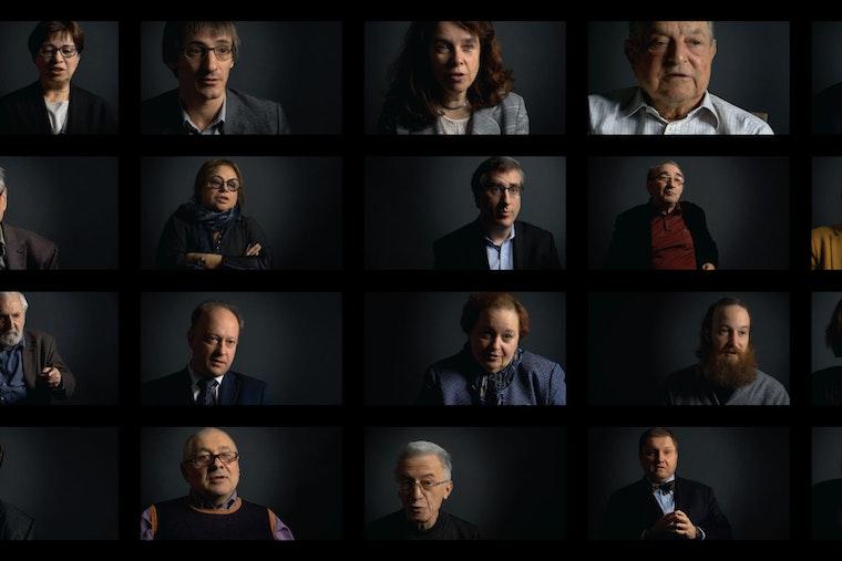 Speakers' faces
