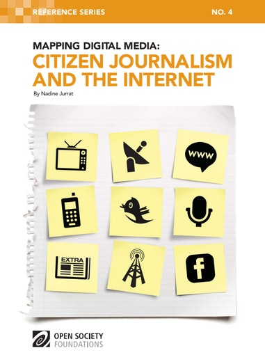 First page of PDF with filename: mapping-digital-media-citizen-journalism-and-internet-20110712.pdf