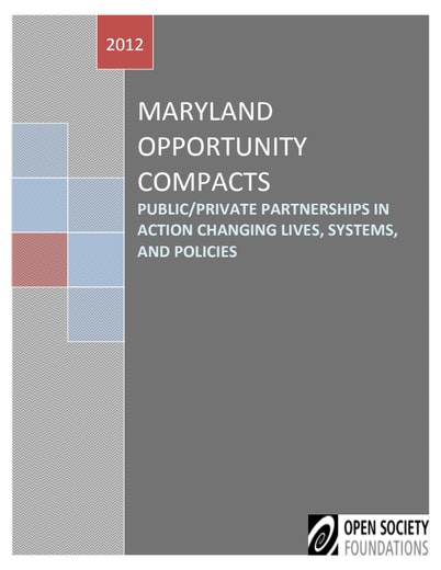 First page of PDF with filename: maryland-opportunity-compacts-20121005.pdf