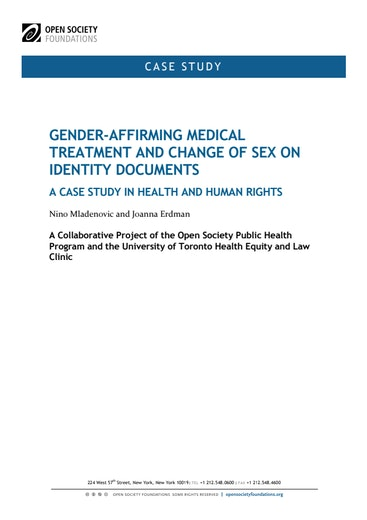 First page of PDF with filename: gender-affirming-medical-treatment-change-sex-identity-documents-20110701.pdf