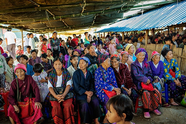 A congregation of women
