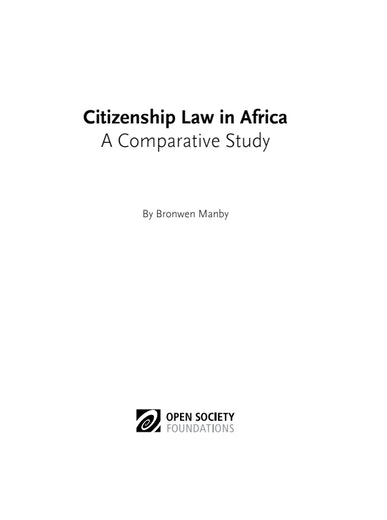 First page of PDF with filename: citizenship-law-africa-third-edition-20160129.pdf